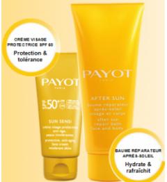 Payot SUN Sensi Crème Visage SPF50+ 50Ml et Après Solaire 125Ml