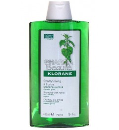 Shampoing Klorane Ortie Séborégulateur 400ml pas cher