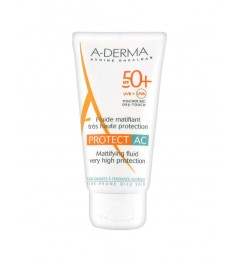 Aderma Solaire Protect AC Fluide Matifiant SPF50 40Ml