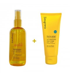 Pack Galenic Solaire Huile Sèche Soyeuse Corps SPF15 150Ml plus