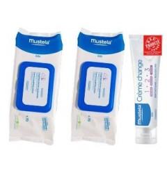 Mustela Coffret Change 2 Lingettes + 1 Crème Change 100Ml