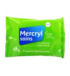 Mercryl Lingettes Antiseptiques Paquet de 15