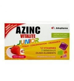 Azinc Vitalité Junior Gout Fraise 30 Comprimés à Croquer