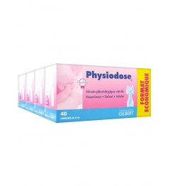 Physiodose Sérum Physiologique Lot de 4 Boites de 40