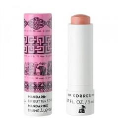 Korres Stick à Lèvres Mandarine Nourrissant SPF15 Pink
