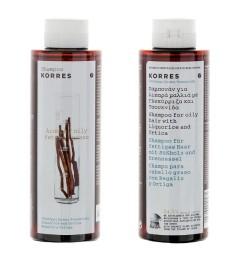 Korres Shampooing 250Ml Cheveux Gras Réglisse et Ortie