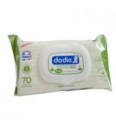 Dodie Lingettes 3 en 1 Nettoyantes à l'Huile d'Olive Bio Paquet de 70