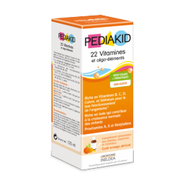 Pediakid 22 Vitamines Oligo Eléments 125Ml