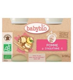 Babybio Petits Pots dès 4 mois Pomme 2x130 Grammes
