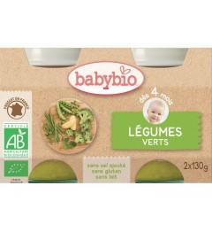Babybio Mes Légumes dès 4 Mois Pot Légumes Verts 2x130 Grammes