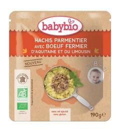 Babybio Menu du Jour dès 8 Mois Poche Souple Hachis Parmentier de Boeuf 190 Grammes