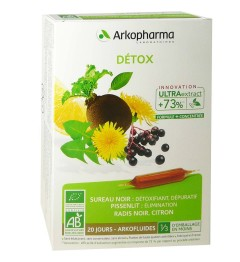 Arkofluide Détox Bio 20 Ampoules