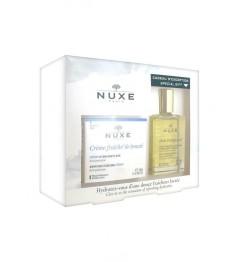 Nuxe Coffret Crème Fraiche Peaux Sèches 50Ml et Huile Prodigieuse 30Ml Offerte
