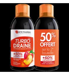 Forté Pharma TurboDraine Minceur Pêche 500ml Lot de 2 pas cher