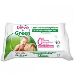 Love And Green Lingettes Parfumées Paquet de 64