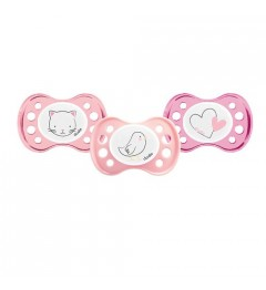 Dodie Sucette Silicone Naissance Fille 0-2 Mois