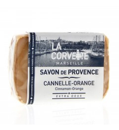 La Corvette Savon de Marseille Cannelle Orange 100 Grammes