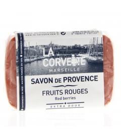 La Corvette Savon de Marseille Fruits Rouges 100 Grammes
