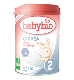 Babybio Caprea Lait de Chèvre 2 dès 6 Mois 900 Grammes