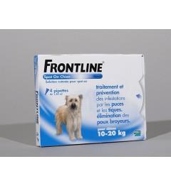 Frontline Spot On Chien 10-20Kg 4 pipettes pas cher