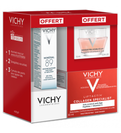 Vichy Liftactiv Collagen Specialist 50ml, Minéral 89 10Ml et Liftactiv Nuit 15Ml