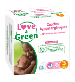 Love And Green Couches Hypoallergéniques Taille 3 4 à 9Kg Paquet de 52