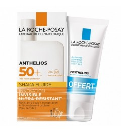 La Roche Posay Anthelios SPF50 Fluide Shaka Avec Parfum 50Ml et Posthelios 40Ml