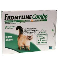 Frontline Combo Spot On Chat 3 pipettes pas cher