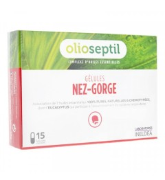 Olioseptil Nez Gorge 15 gélules