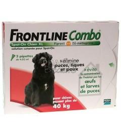 Frontline Combo Spot On Chien XL plus de 40 Kg 3 pipettes pas