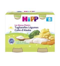 Hipp Tagliatelles Légumes Colin d'Alaska 2x190 Grammes