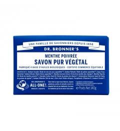 Dr Bronner's Pain de Savon Menthe Poivrée 140G
