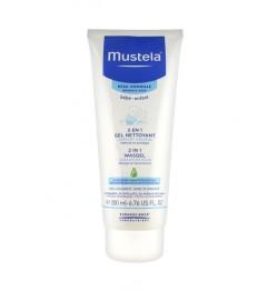Mustela 2 en 1 cheveux et corps 200ml pas cher