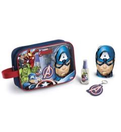 Avengers Trousse Eau de Toilette 90Ml, Porte Clés et Bain Moussant shampooing 2 en 1 300Ml