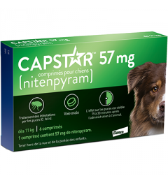 Capstar 57Mg Chiens 6 Comprimés