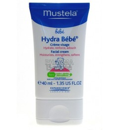 Mustela Hydra Bébé Crème Visage 40 ml pas cher