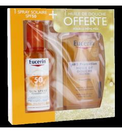 Eucerin Sun Coffret Spray Transparent SPF50 200Ml et Huile de Douche Offerte