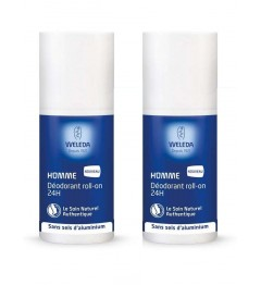 Weleda Déodorant 24 Heures Homme Roll On 2x50Ml