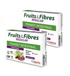 Ortis Fruits et Fibres Regular 2 Boites de 24 Cubes