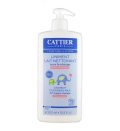 Cattier Bébé Liniment Lait Nettoyant pour le change 500 ml