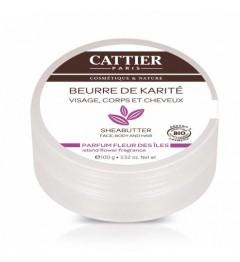 Cattier Beurre de Karité Parfum Fleur des Iles 100 Grammes