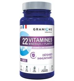 Granions 22 Vitamines Minéraux et Plantes Défenses Immunitaires 90 Comprimés