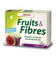 Ortis Fruits et Fibres Boite de 12 cubes pas cher