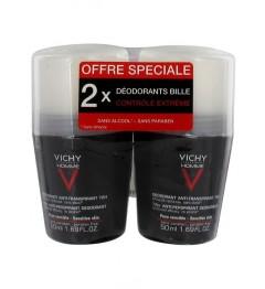 Vichy Homme Déodorant Antitranspirant 2x50Ml pas cher