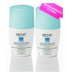 Vichy Déodorant Anti-Trace Bille 2x50Ml pas cher