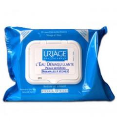 Uriage Lingettes Démaquillante Visage et Yeux Paquet de 25
