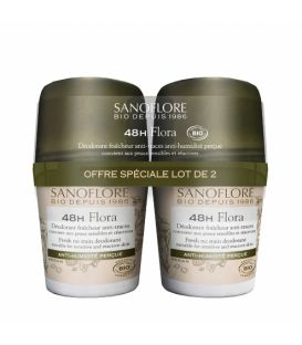 Sanoflore Déodorant Bille 48H Flora 2x50Ml