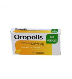 Oropolis Pastilles Adoucissantes Miel Citron 20 Pastilles