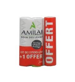 Amilab Stick Lèvres 2+1 offert