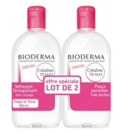 Bioderma Créaline TS H2O Solution Micellaire 2x500 ml, Bioderma